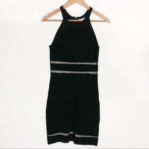 Parker Textured Bodycon Knit Illusion Dress